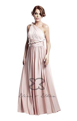 Brautjungfernkleid Wickelkleid Dusty Rose Altrosa Eliza & Ethan one size 22 Tragevarianten Abendkleid Ballkleid -