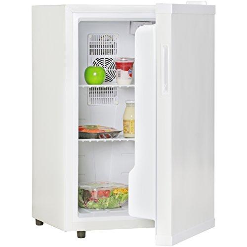 Amstyle Minikühlschrank 65 Liter Minibar Weiß freistehender Mini Kühlschrank Klein 5°-15°C Energieklasse A+ Tischkühlschrank ohne Gefrierfach für Getränke Zimmerkühlschrank 230V 65L Geräuscharm