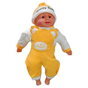 Kids Mandi™ Musical Laughing Baby (Yellow) with a Realistic and Cute Look for babies and kids