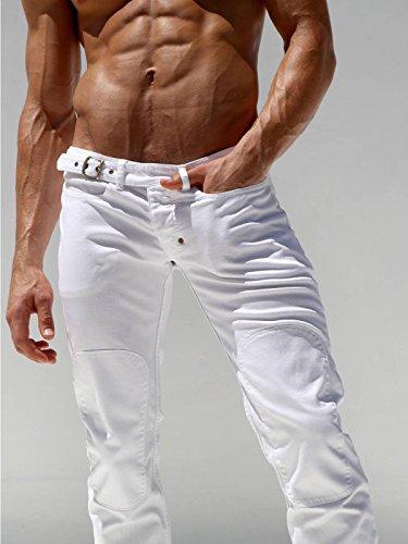 Rufskin Herren Designer Stretchjeans (Slim Fit) Weiß