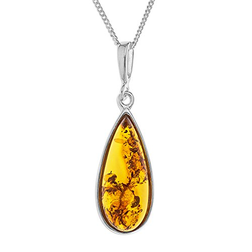 ornami-b53-bn2974002-ladies-amber-teardrop-pendant-with-46-cm-chain