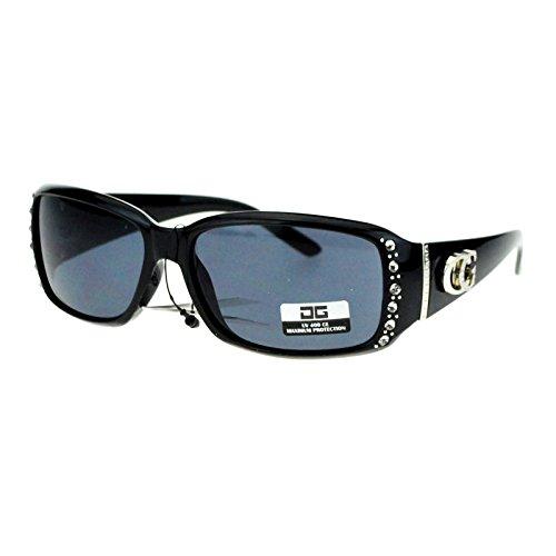 moda Cg Brillen Strass Nieten schmalen rechteckigen Designer Mode Sonnenbrillen 53 eine Größe passt meistens Schwarz