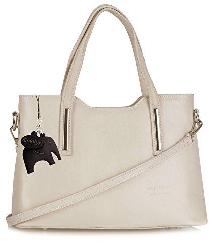 Big Handbag Shop - Borsa a tracolla donna Beige