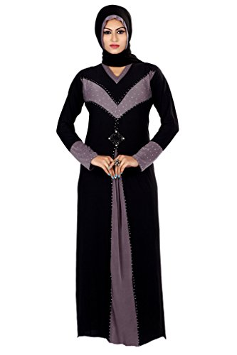 Viva N Diva Black Colored Lycra Abaya Dubai.