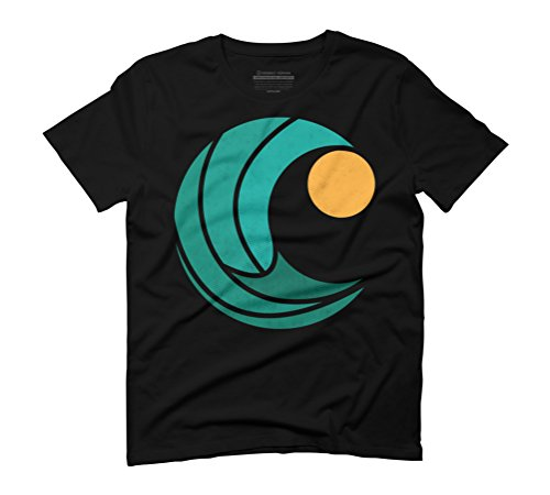 waves and the sun Men's Graphic T-Shirt - Design By Humans Black