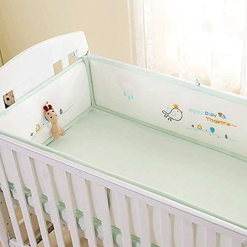 Coussins de pare-chocs pour lit de bébé respirants pour lits de bébé standard Doublure rembourrée et lavable pour lit de bébé 100% polyester microfibre soyeux et doux