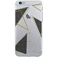 BigBen Coque souple pour iPhone6/6S Transparente/Triangles noir