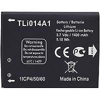 Custodia per 1400mAh agli ioni di litio batteria di backup per ALCATEL TLi014A1One Touch 4010/D 40124030OT-5020, colore: nero
