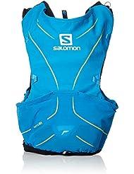 Salomon ADV Skin 5 Set Mochila Ligera de hidratación para Corriendo/Senderismo, Capacidad 5 L, Unisex Adulto, Azul (Hawaiian Surf/Night Sky), XS/S