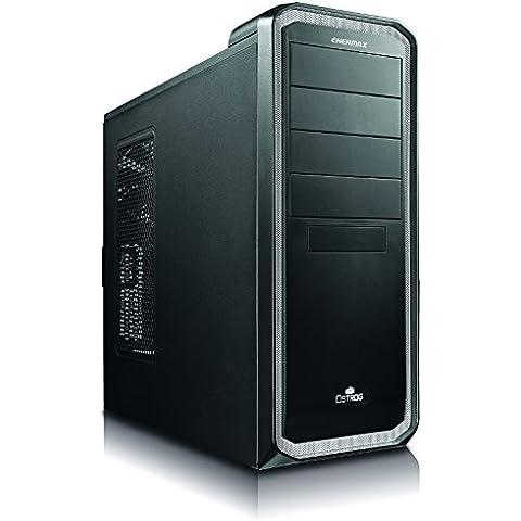 Ostrog ECA3250-BW - Case solido Enermax Midi Tower per PC, mATX, ventola 120 mm, USB 3.0, colore: Nero/Bianco - Computer Case Atx Enermax Nero