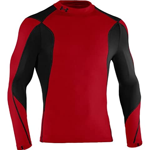 Under Armour T-Shirt Hybrid rosso/nero