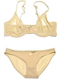 3fde7710fe Vogue s Secret Women s Unpadded Push Up See-through Bra Sexy Transparent  Breathable Panties Set Underwear