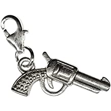 Pistole Charm Anhänger Bettelarmband Miniblings Western potros Revolver–Luz para bicicleta
