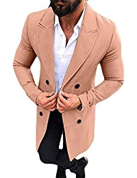 691f126a4bae Manadlian Herren Herbst Männer Steppjacke Winter Graben Lange Outwear Taste  Intelligenter Mantel Mäntel