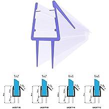 70cm UK20 -- Guarnizione box doccia per 6mm/ 7mm Spessore del vetro Guarnizione doccia sostitutiva deflettente Protegge la cabina dall'umidità dritta
