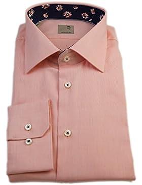 Seidensticker Herren Langarm Hemd Schwarze Rose Slim Fit orange strukturiert mit Patch 240316.68