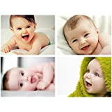 MANIAL HD Cute Baby Combo 300GSM Thick Paper, Gloss Laminated Wall Posters for Room Decor and Pregnant Women (12x18-Inch, Multicolour) Set of 4