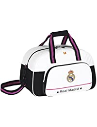 Safta - Bolsa de deporte adaptable Real Madrid, 40 x 24 x 23 cm (711457273)