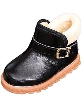 Unisex Schuhe CLOOM Neu Winter Jungen Mädchen Warm Schnee Kleinkind Schuhe Weiche rutschen flache Stiefel Mode...