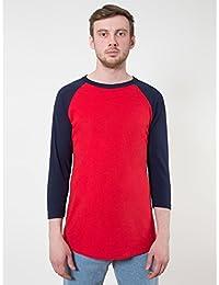 American Apparel Unisex Contrast 3/4 Length Sleeve T-Shirt