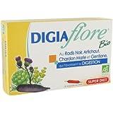 SuperDiet Digiaflore Bio Digestion Allié du Foie 20 ampoules de 15ml soit 300ml