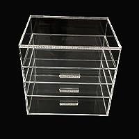immi-living Caja de joyero de maquillaje acrílico transparente organizador cosmético Funda de almacenamiento de pantalla