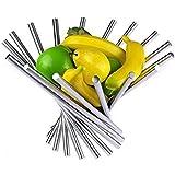 Corbeille à Fruits Pliable en Acier Inoxydable Pour Table De Cuisine/Table de Salle à Manger, Bol à Fruits Créatif en Métal A