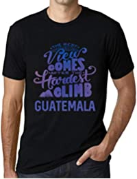One in the City Hombre Camiseta Vintage T-Shirt Gráfico Best Views Mountains Guatemala Negro
