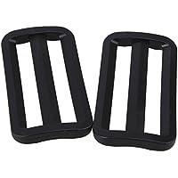 Plástico negro Triglides correas flejes diapositivas hebillas sujetadores para 50 mm Webbing 20 unidades