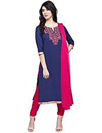 Haute Curry By Shoppers Stop Womens Round Neck Solid Churidar Suit