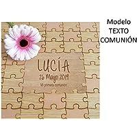 Cuadros de firmas para COMUNION tipo puzzle. Libro de invitados. Personalizado. Para NIÑO O NIÑA.