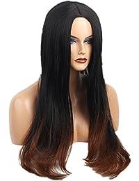 Sunward Women's Long Big Wavy Light Blonde Ombre Two Tone Hair Wig