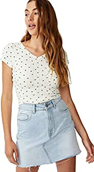 Cotton On Women's Cotton Blend Short Sleeve