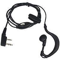 Auricular-Micrófono 2 Pin PTT para Emisora Walkie Baofeng-Pofung UV-5R UV5-RA
