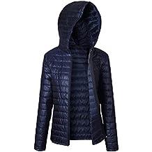 LINNUO Donna Giacche Con Cappuccio Piumino Corta Piegabile In Piuma Cappotto Trapuntato Packable Inverno Giacca