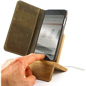Lambda iPhone Dock (Eiche) für iPhones 5/5S/6/6S/Plus/SE/7 (verwendbar mit und ohne Schutzhülle)