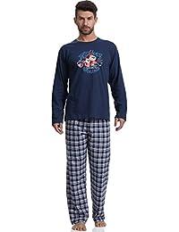 Cornette Hombre Pijamas 100% Algodón Agradable Set Pijama Pantalones Camisetas Mangas Largas 124 2016