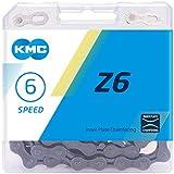 KMC Unisex's Z6 6 Speed Chain, Grey, 114 Link