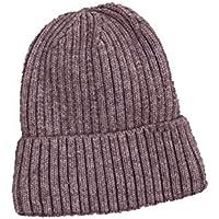 Sombrero cálido de otoño e Invierno Sombrero de Punto Pareja Femenina más Terciopelo Cabeza de cúpula Sombrero de Lana,Purple