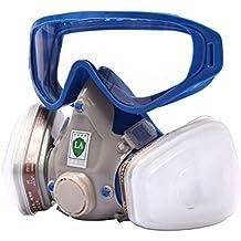 Máscara de gas respirador y gafas de goma, de cara completa, resistente al polvo
