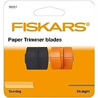 Original Fiskars Cuchillas de repuesto para máquinas de corte de papel, Cuchilla recta y de marcado, High Profile TripleTrack, Naranja/Negro, 1003905