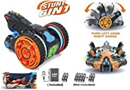 Popsugar 6 in 1 Double Sided Stunt Car with Rechargeable Battery and Charger Toy for Kids and Adults