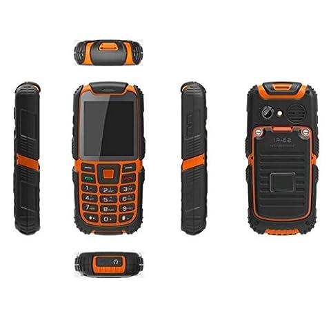 Bestore® S6 Resistente al aire libre del teléfono móvil (SIM dual, impermeable, a prueba de polvo, a prueba de golpes)