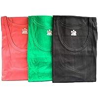 SOFTY® 3X Mens Athletic Vests Tank Top Colours 100% Cotton Vests, Muscle Summer Top Vest