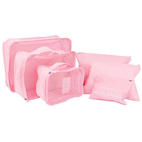 Reisetasche Set Reise-Gepäck-Organizer-Taschen 6pcs Kosmetischer Speicherbeutel Kleidung Speicherbeutel (Typ 2) (Reisetasche-gepäck-set)