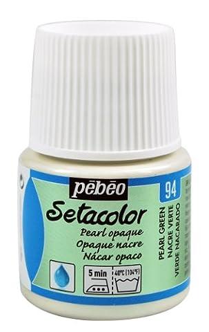 Pebeo Pebeo Setacolor Peinture tissus Opaque, 45 ml Vert Perle de Nacre Vert
