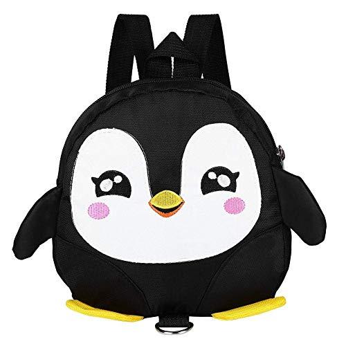 Lounayy Zaino Per Bambini Zaino Per Bambini Zaino Di Sicurezza Per Bambini Bambini Pinguino Zaino 3D Con Zaino Per Bambini (Color : Schwarz, Size : One Size)