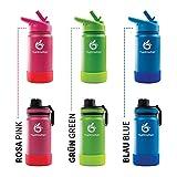 hydro2go ® Edelstahl Trinkflasche KidsBottle - 350ml | BPA-freie Wasserflasche...