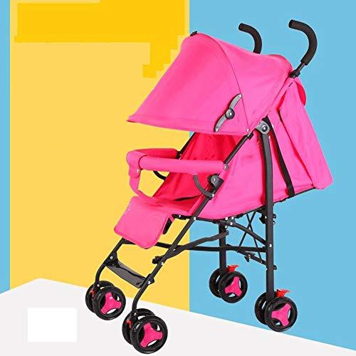 Kinderwagen Licht Kann Sitzen Liegend Regenschirm Licht Tragbare Klapp Kinderwagen Vier Rad Bambus Kinderwagen Rot