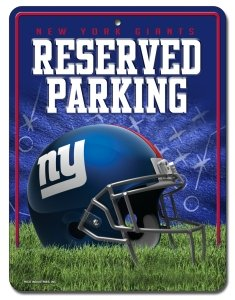 Unbekannt NFL Abonnements Metall Parken Schild, New York Giants, S